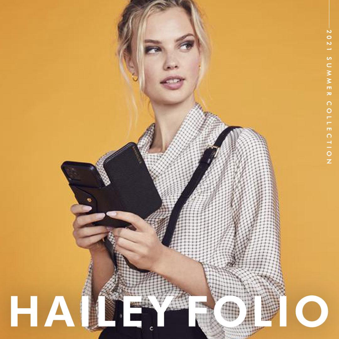 HAILEY FOLIO GOLD/ HAILEY FOLIO PEWTER 手帳型ケース