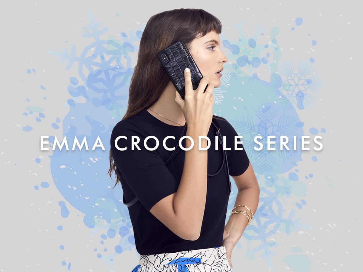 EMMA CROC BLACK
