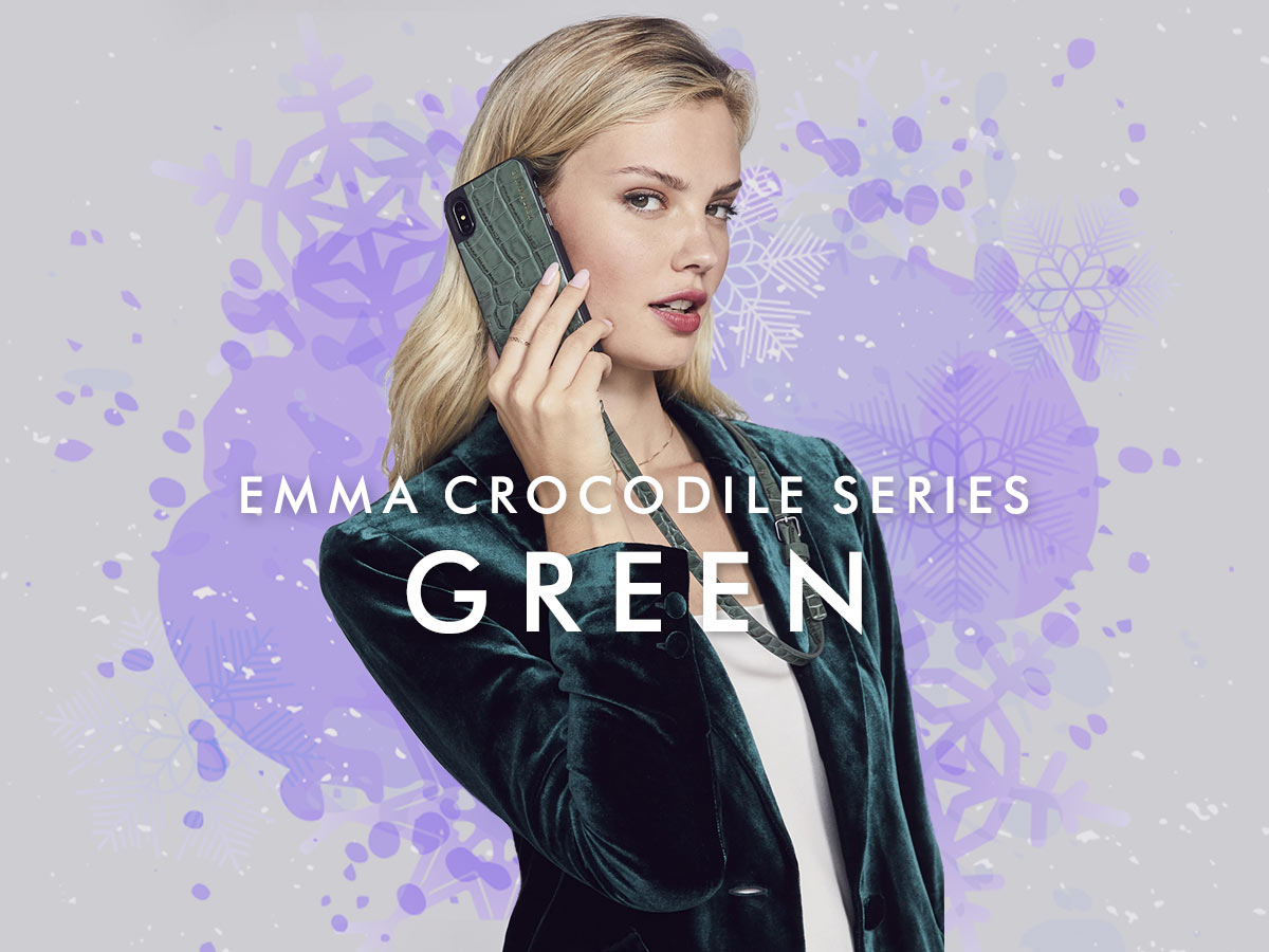 EMMA CROC GREEN