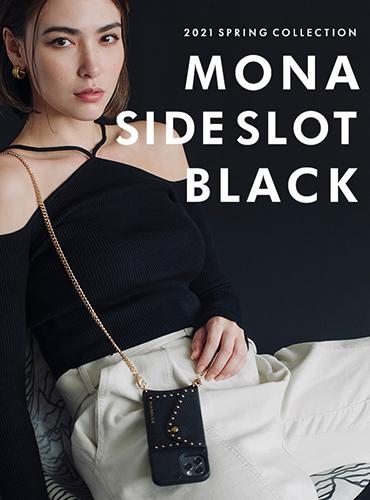 MONA SIDE SLOT BLACK
