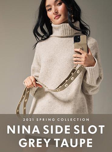 NINA SIDE SLOT GREY TAUPE ニーナ サイド サイドスロット グレー トープ