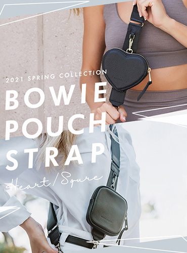BOWIE HEART / SQUARE POUCH STRAP