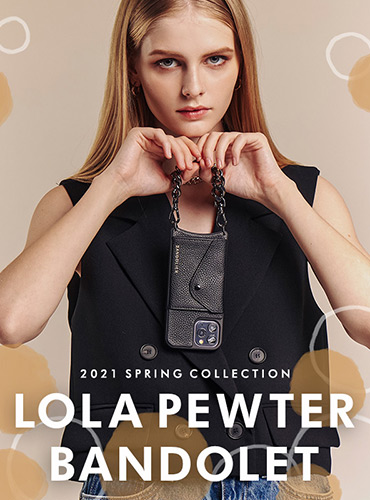 【予約販売開始】LOLA PEWTER BANDOLET BLACK/GOLD・BLACK/SILVER