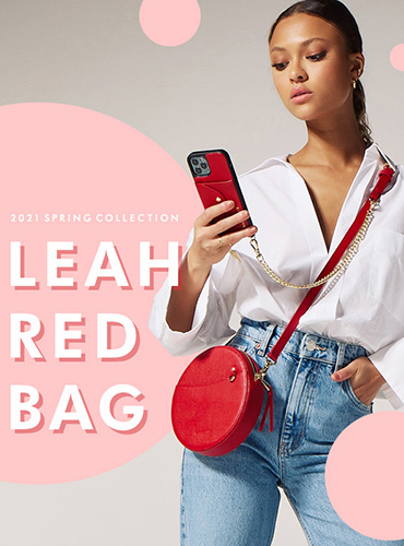 LEAH RED BAG リア レッド バッグ