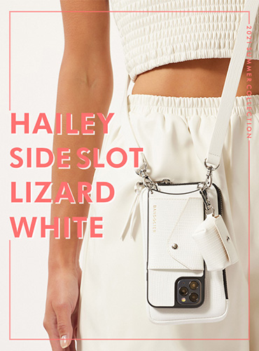 HAILEY SIDE SLOT LIZARD WHITE