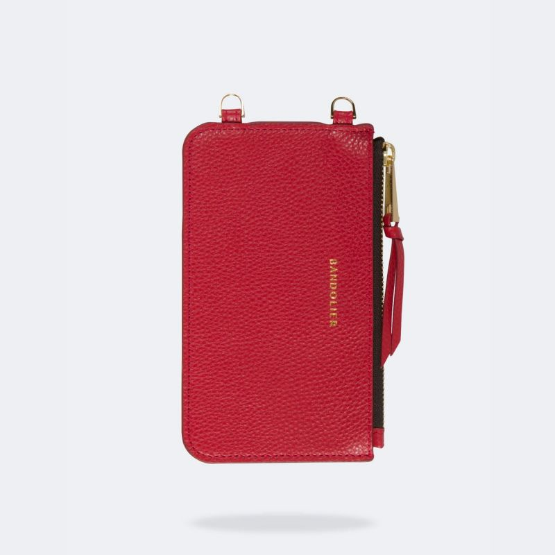 EMMA LYDIA RED POUCH エマ リディア レッド ポーチ