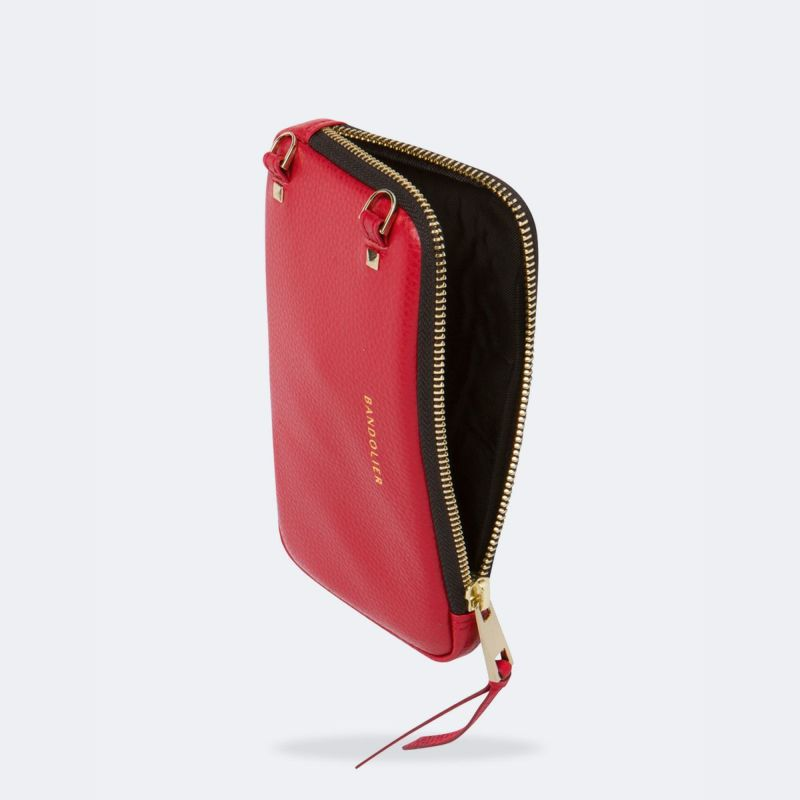EXPANDED LYDIA RED POUCH エキスパンデッド リディア レッド ポーチ