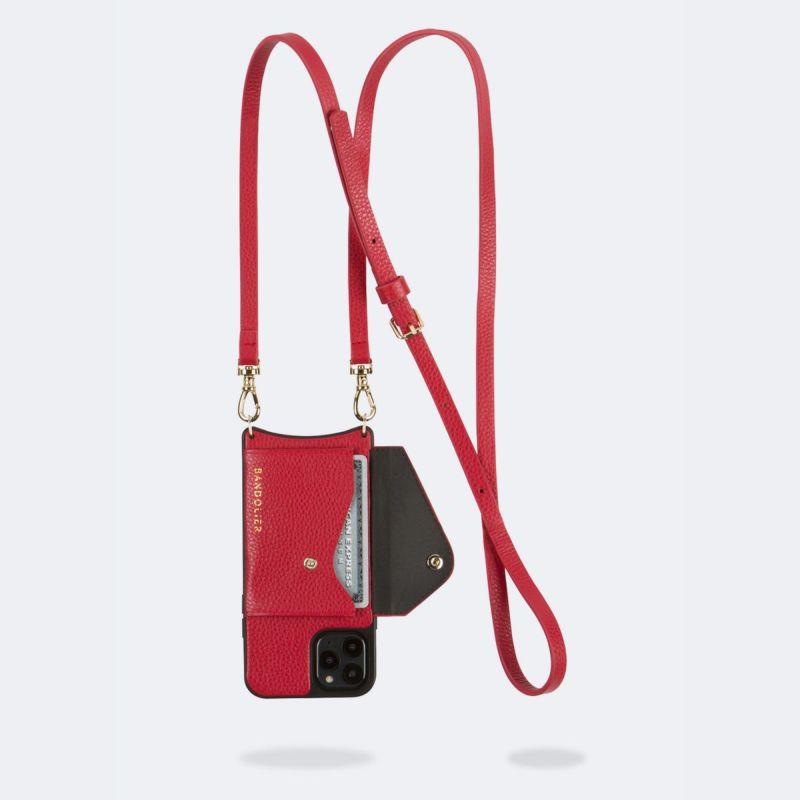 【iPhone 12 Pro/12】DONNA SIDE SLOT LYDIA RED ドナー サイド スロット リディア レッド