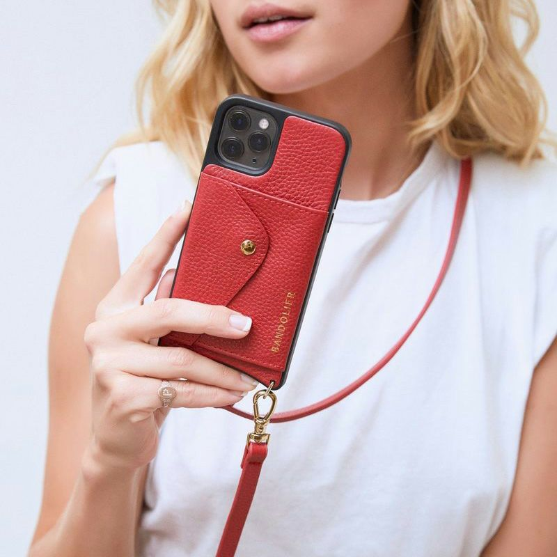 【iPhone 12 Pro/12】DONNA SIDE SLOT LYDIA RED ドナー サイド スロット リディア レッド