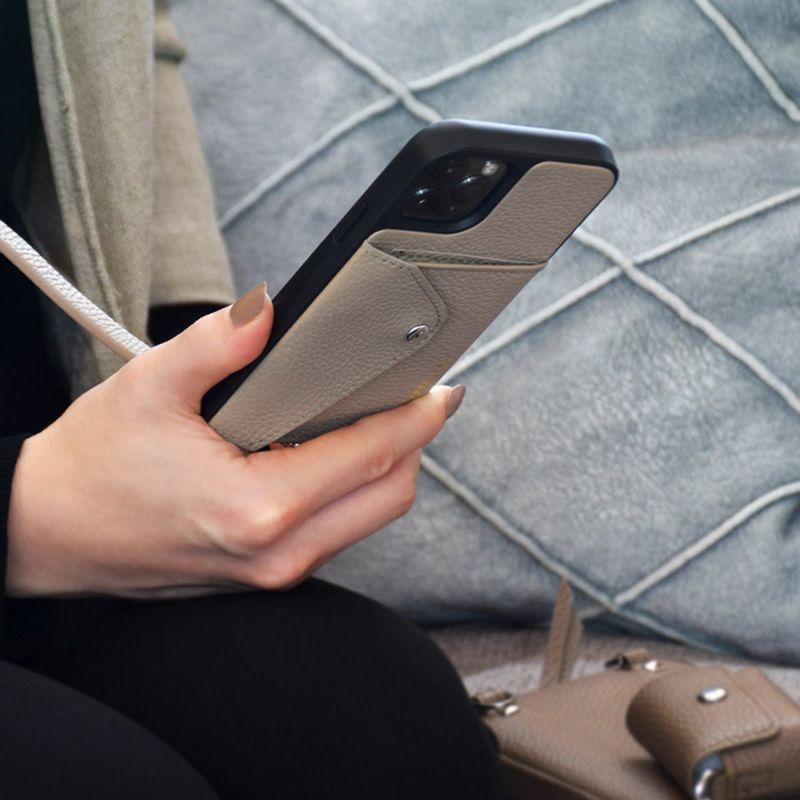 【日本限定】【iPhoneSE/8/7/6s/6】DONNA SIDE SLOT LIGHT TAUPE ドナー サイド スロット ライト トープ