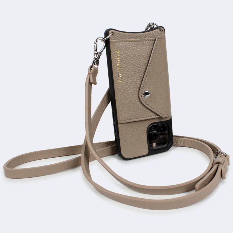 【日本限定】【iPhone 11 Pro】DONNA SIDE SLOT LIGHT TAUPE ドナー サイド スロット ライト トープ