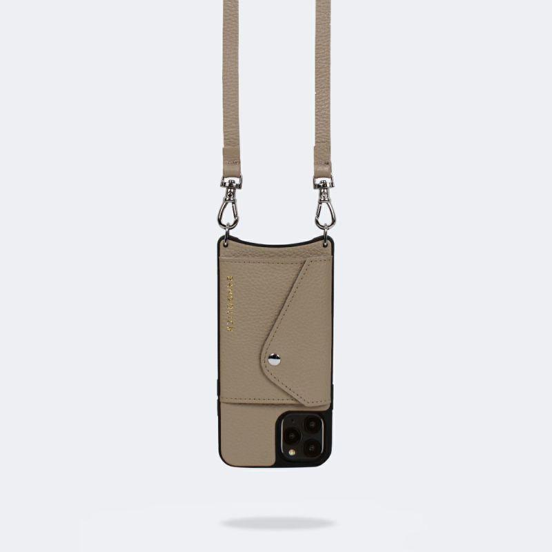 【日本限定】【iPhone 11】DONNA SIDE SLOT LIGHT TAUPE ドナー サイド スロット ライト トープ