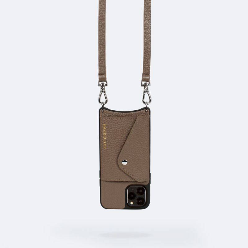 【日本限定】【iPhoneSE/8/7/6s/6】DONNA SIDE SLOT DARK TAUPE ドナー サイド スロット ダーク トープ