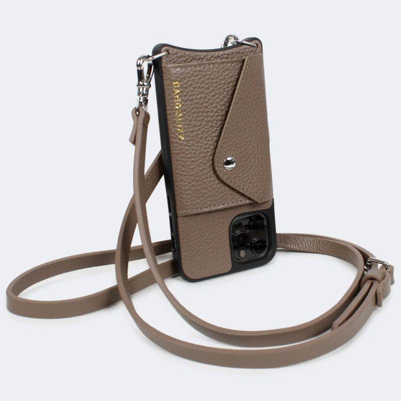【日本限定】【iPhone 11 Pro】DONNA SIDE SLOT DARK TAUPE ドナー サイド スロット ダーク トープ