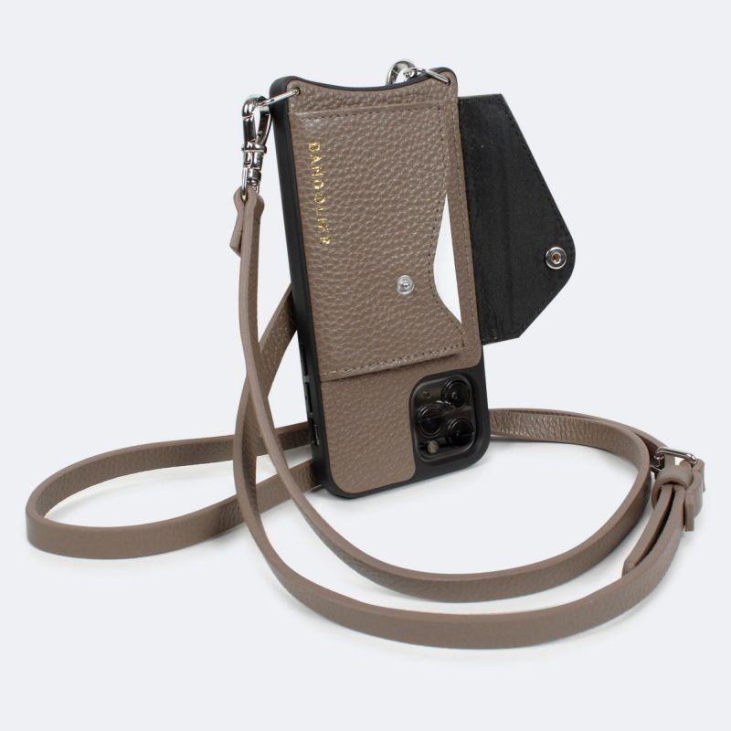 【日本限定】【iPhone 11】DONNA SIDE SLOT DARK TAUPE ドナー サイド スロット ダーク トープ