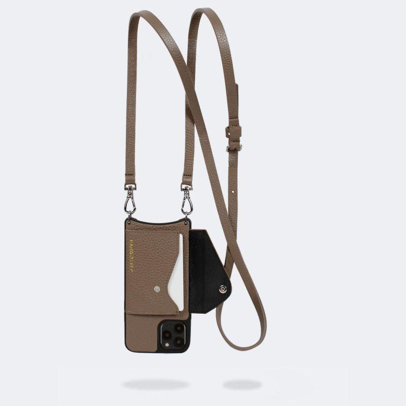 【日本限定】【iPhone 12 Pro/12】DONNA SIDE SLOT DARK TAUPE ドナー サイド スロット ダーク トープ