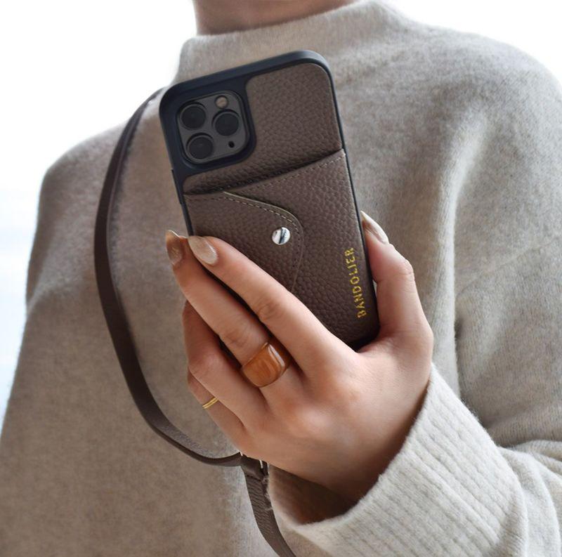 【日本限定】【iPhone 12 Pro Max】DONNA SIDE SLOT DARK TAUPE ドナー サイド スロット ダーク トープ