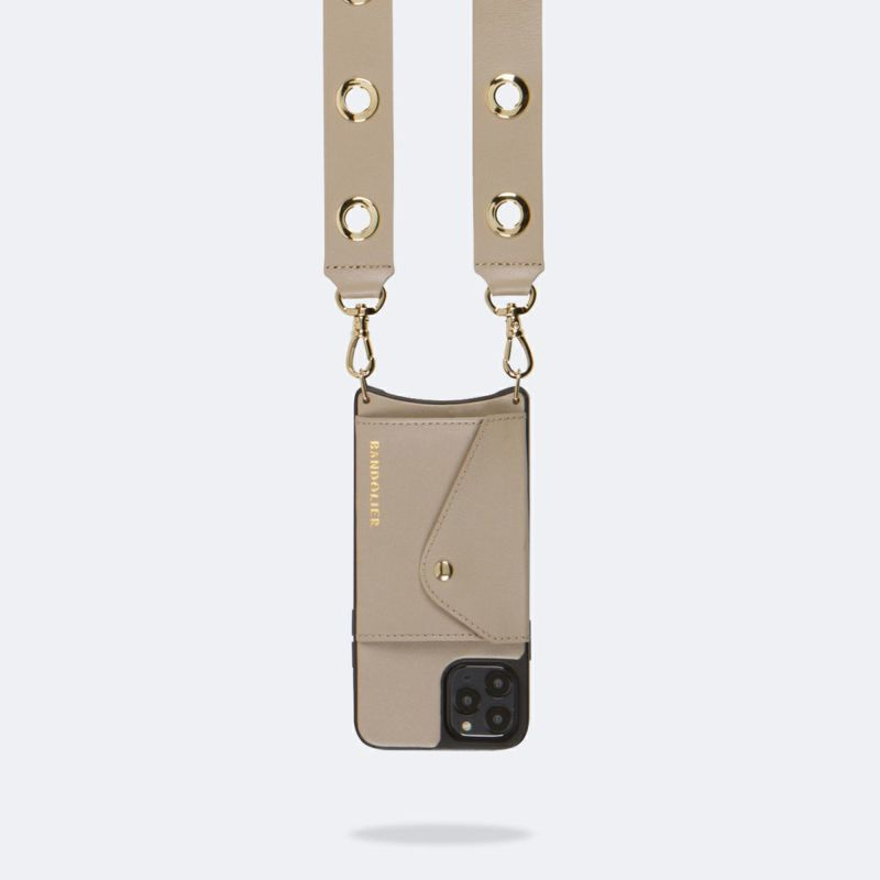 【iPhone 12 Pro/12】NINA SIDE SLOT GREY TAUPE ニーナ サイド サイドスロット グレー トープ