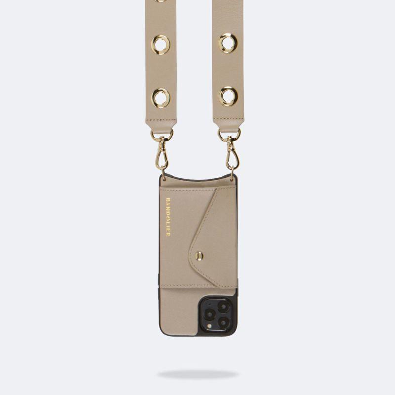 【iPhone 12 Pro Max】NINA SIDE SLOT GREY TAUPE ニーナ サイド サイドスロット グレー トープ