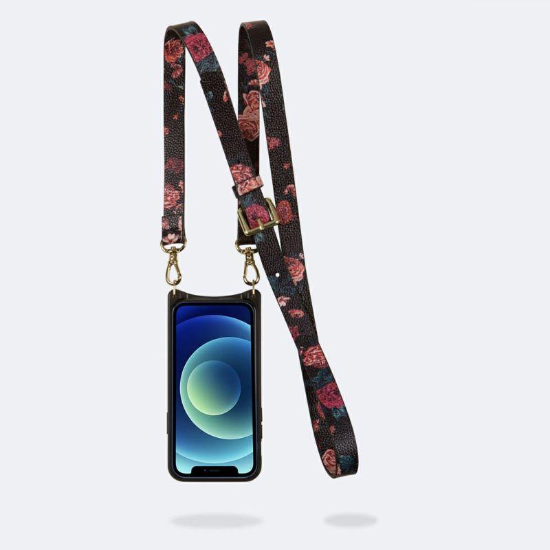 【iPhone 12 Pro/12】ELISE BLACK FLORAL エリーゼ ブラック フローラル