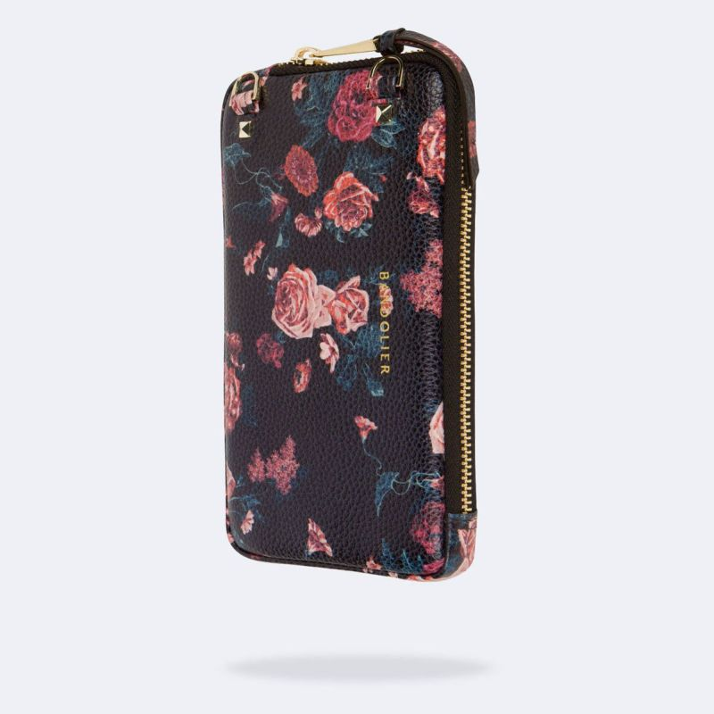 EXPANDED BLACK FLORAL POUCH エキスパンデッド ブラック フローラル ポーチ