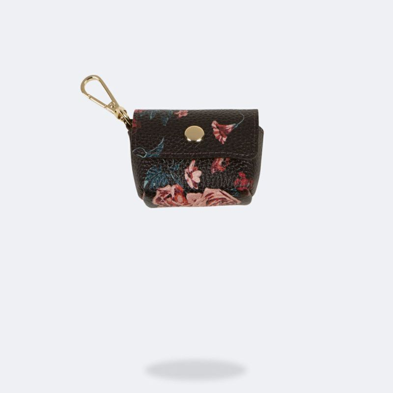 AirPods Pro POUCH BLACK FLORAL エアーポッズ プロ ポーチ ブラック フローラル