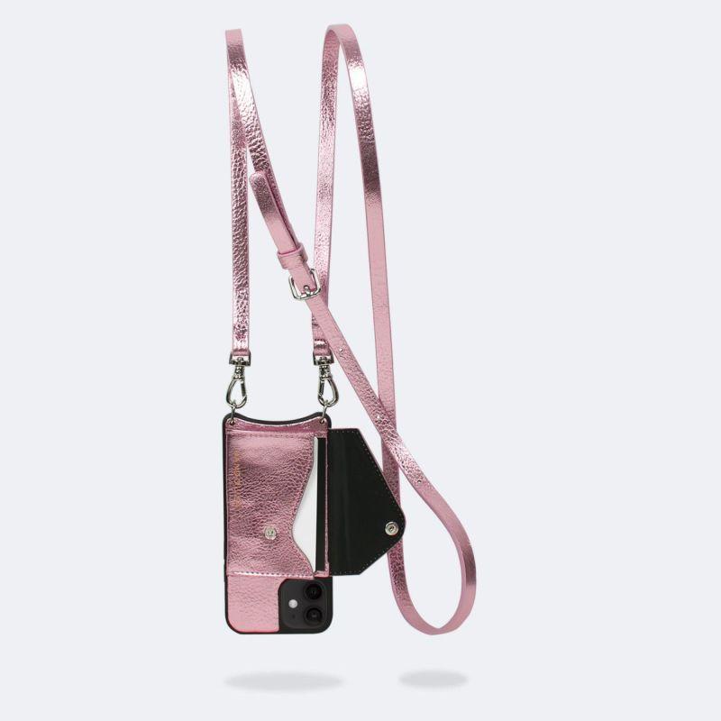 【iPhone 12 mini】EMMA METALLIC PINK エマ メタリックピンク