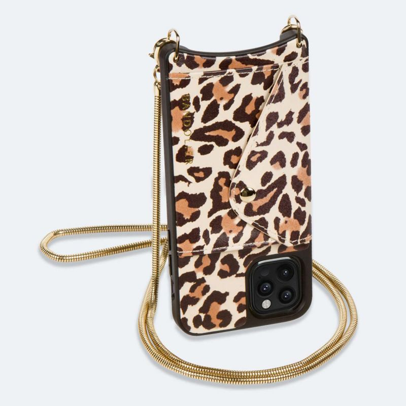 【iPhone 12 Pro Max】GIA SIDE SLOT LIGHT LEOPARD ジア サイド スロット ライト レオパード