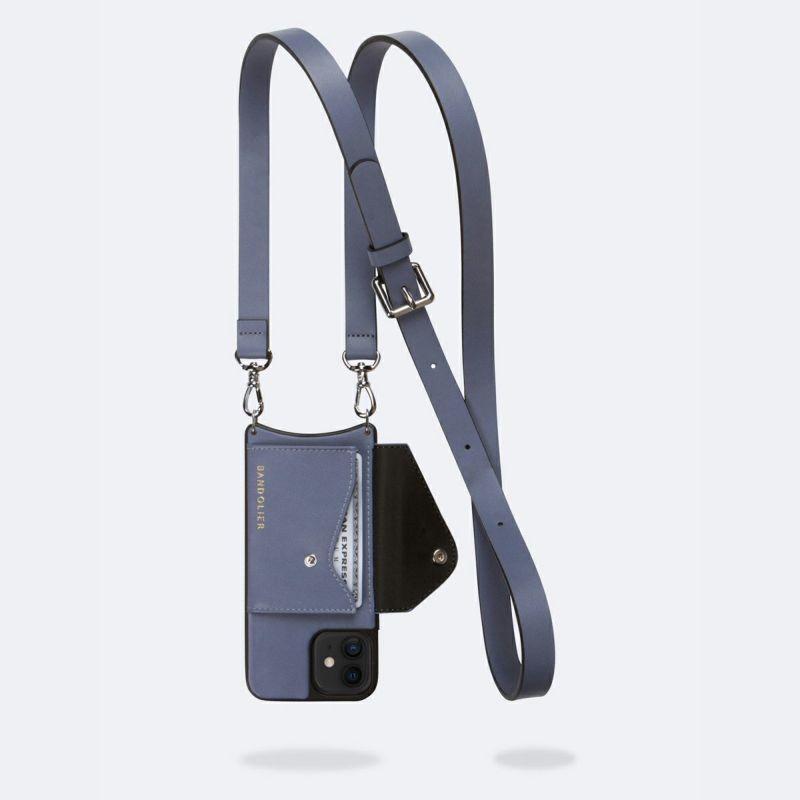 【iPhone 12 mini】HAILEY SIDE SLOT BLUE SMOKE ヘイリー サイド スロット ブルー スモーク