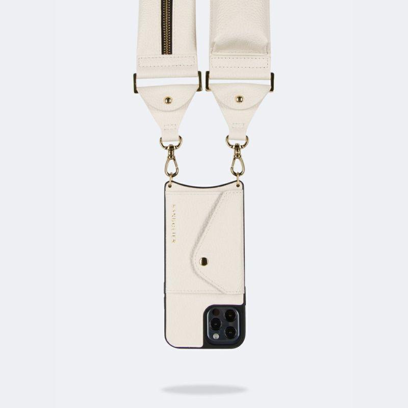 【オンライン限定】【iPhone 12 Pro/12】BILLIE SIDE SLOT IVORY ビリー サイド スロット アイボリー