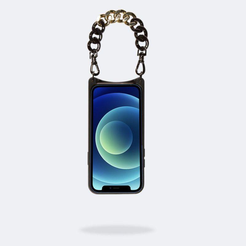 【iPhone 12 mini】LOLA PEWTER BANDOLET BLACK/GOLD ローラ ピューター バンドレット ブラック/ゴールド
