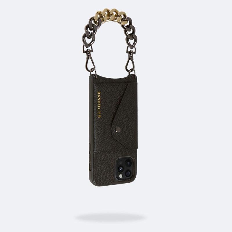 【iPhone 12 Pro/12】LOLA PEWTER BANDOLET BLACK/GOLD ローラ ピューター バンドレット ブラック/ゴールド