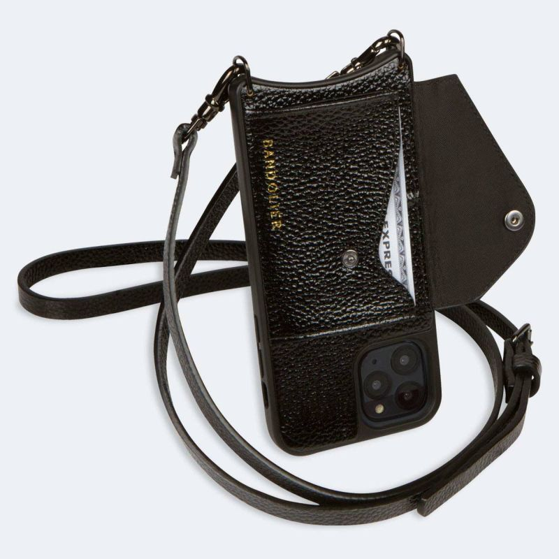 【iPhone 11 Pro】DONNA SIDE SLOT METALLIC BLACK ドナー サイド スロット メタリック ブラック