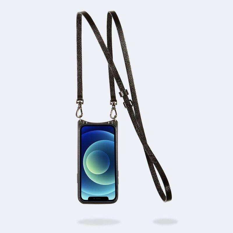 【iPhone 12 mini】DONNA SIDE SLOT METALLIC BLACK ドナー サイド スロット メタリック ブラック