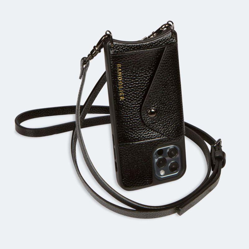 【iPhone 12 Pro/12】DONNA SIDE SLOT METALLIC BLACK ドナー サイド スロット メタリック ブラック