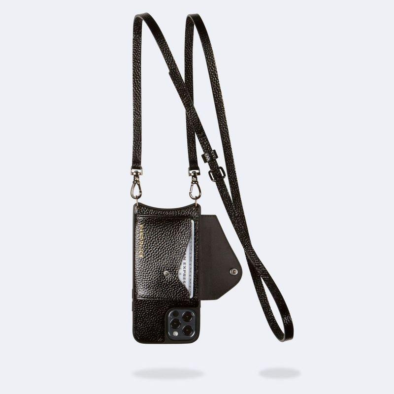 【iPhone 12 Pro Max】DONNA SIDE SLOT METALLIC BLACK ドナー サイド スロット メタリック ブラックー