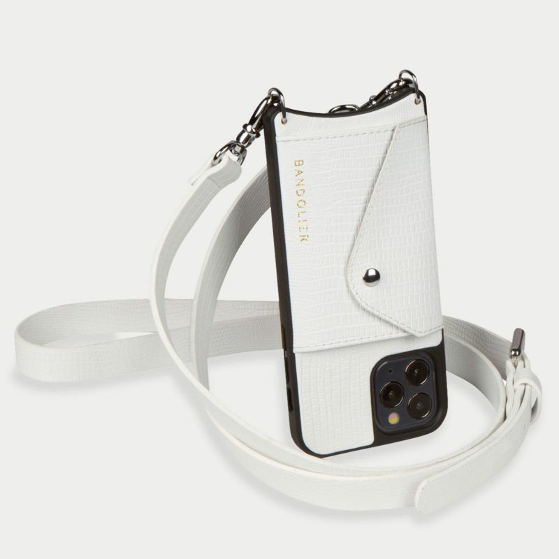 【iPhone 11 Pro】HAILEY SIDE SLOT LIZARD WHITE ヘイリー サイド スロット リザード ホワイト