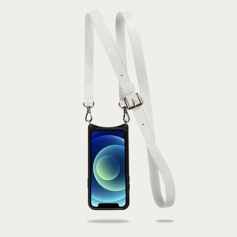 【iPhone 12 Pro/12】HAILEY SIDE SLOT LIZARD WHITE ヘイリー サイド スロット リザード ホワイト