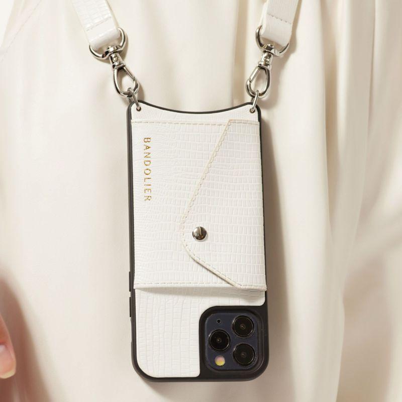 【iPhone 12 Pro Max】HAILEY SIDE SLOT LIZARD WHITE ヘイリー サイド スロット リザード ホワイト