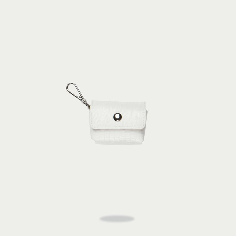 AirPods Pro POUCH LIZARD WHITE エアーポッズ プロ ポーチ リザード ホワイト
