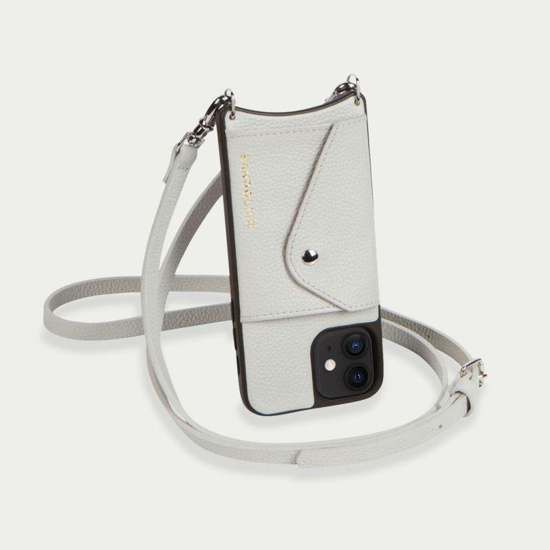 【iPhone 12 mini】DONNA SIDE SLOT LIGHT GREY ドナ サイドスロット ライトグレー
