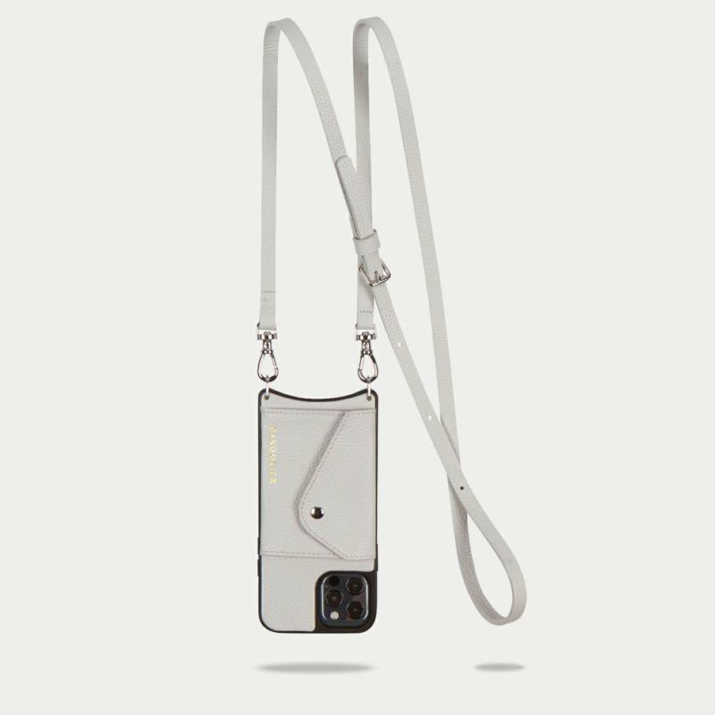 【iPhone 12 Pro/12】DONNA SIDE SLOT LIGHT GREY ドナ サイドスロット ライトグレー