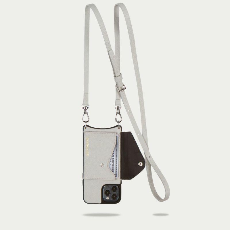 【iPhone 12 Pro Max】DONNA SIDE SLOT LIGHT GREY ドナ サイドスロット ライトグレー
