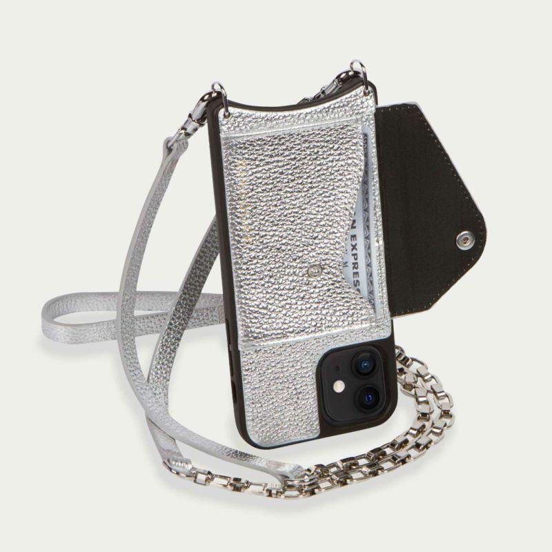 【iPhone 12 mini】LENA SIDE SLOT MTSILVER レナ サイドスロット メタリックシルバー