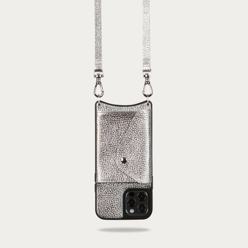 【iPhone 12 Pro/12】LENA SIDE SLOT MTSILVER レナ サイドスロット メタリックシルバー