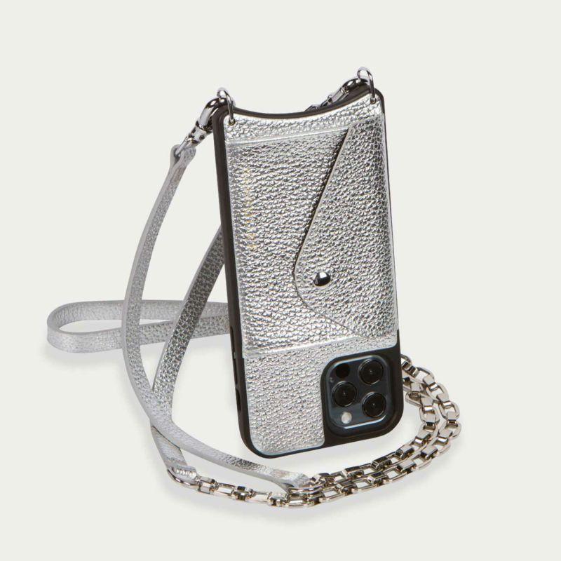 【iPhoneSE/8/7/6s/6】LENA SIDE SLOT MTSILVER レナ サイドスロット メタリックシルバー