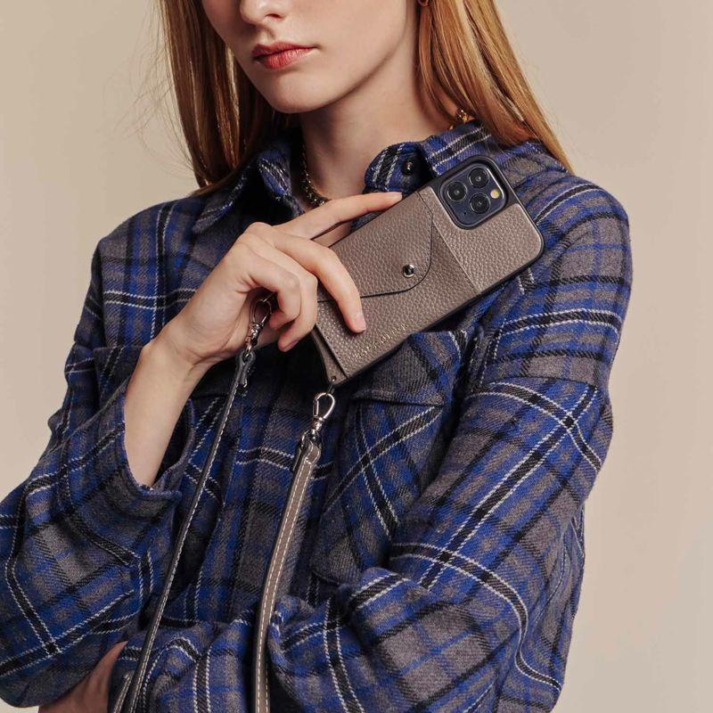 【iPhone 12 mini】CASEY SIDE SLOT GREY ケイシー サイドスロット グレー
