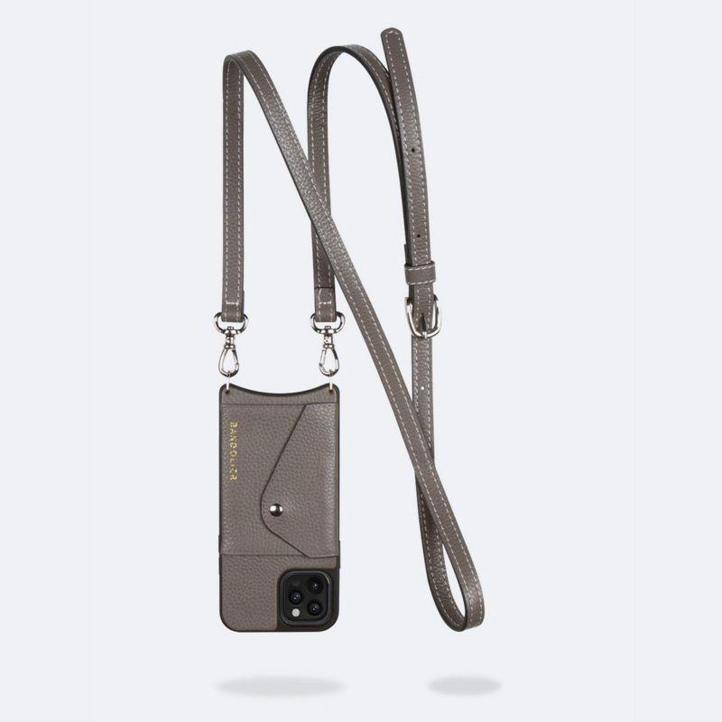 【iPhone 12 Pro/12】CASEY SIDE SLOT GREY ケイシー サイドスロット グレー