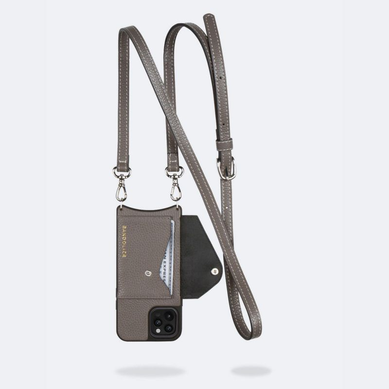 【iPhone 12 Pro Max】LENA SIDE SLOT MTSILVER レナ サイドスロット メタリックシルバー