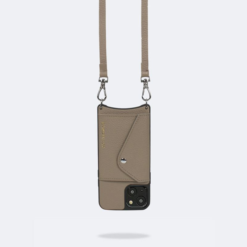 【日本限定】【iPhone 13 mini】DONNA SIDE SLOT LIGHT TAUPE ドナ サイドスロット ライトトープ